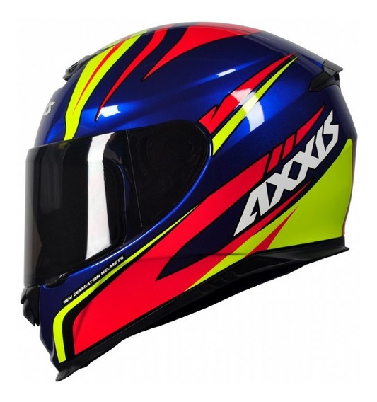 Capacete Mt/axxis Eagle Hybrid Race Azul 57-58