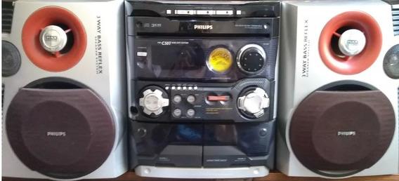 Mini System Hifi Philips Fw C 507 Com Duas Caixas De Som