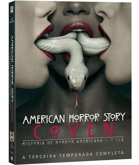 American Horror Story 3ª Temporada - Box Com 4 Dvds - Novo