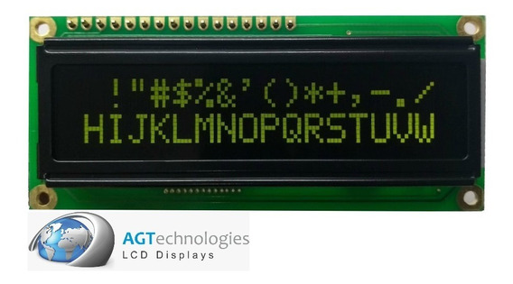 Display Lcd 16x2 Fundo Preto - Letras Verdes