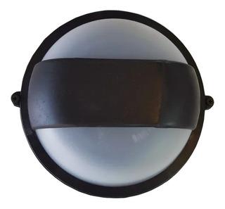 Tortuga Pvc Redonda Bidireccional Negra E27 Led Exterior