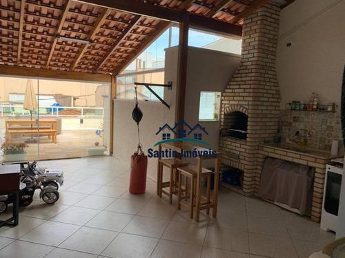 Cobertura Com 2 Quartos,(01 Suíte )espaço Gourmet, Fino Acabamento, Vaga Coberta  À Venda, 124 M² Por R$ 395.000 - Vila Pires - Santo André/sp - Co0644