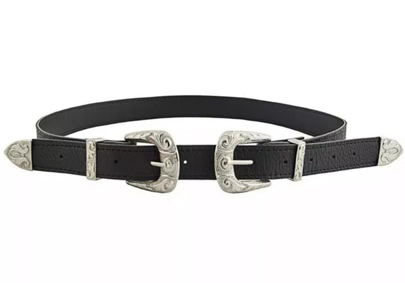 Cinturon Cuero Ecológico, Doble Hebilla/ Gucci X 10 Unidades