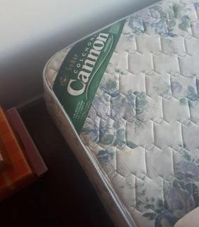 Sommier Con Colchón Cannon Impecable