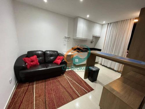 Studio Com 1 Dormitório Para Alugar, 38 M² Por R$ 1.650,00/mês - Vila Augusta - Guarulhos/sp - St0035
