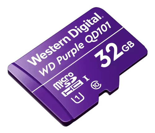 Imagen 1 de 3 de Purple Microsd 32gb Wd Surveillance
