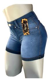 Kit 3 Short Jeans Feminino Cintura Alta Barato