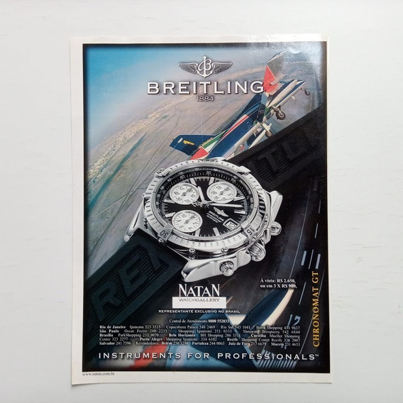 Relógio Breitling - Propaganda Antiga - Publicidade - 1999