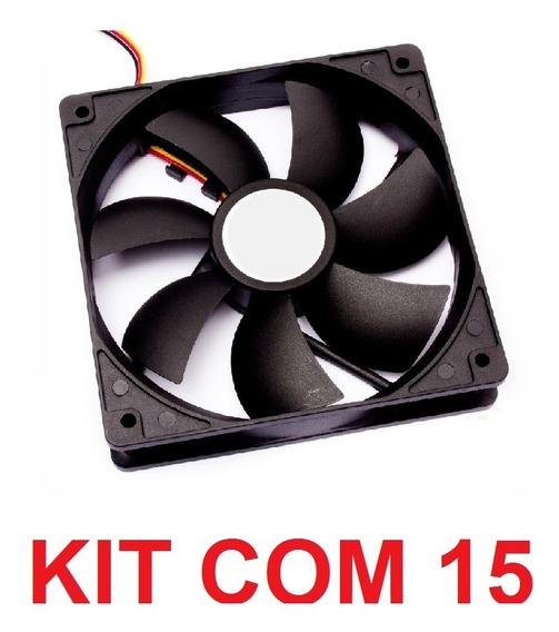Kit 15 Fan Cooler 120x120x25 Micro Ventilador 12v 120mm