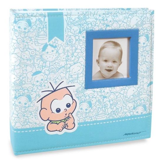 Album De Bebe Com Diario Turma Da Monica Azul Para 150 Fotos Mistas 15x21 10x15