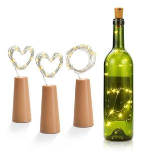 Redlemon Luces Led Para Botella Tipo Corcho 2 Mts Kit De 3