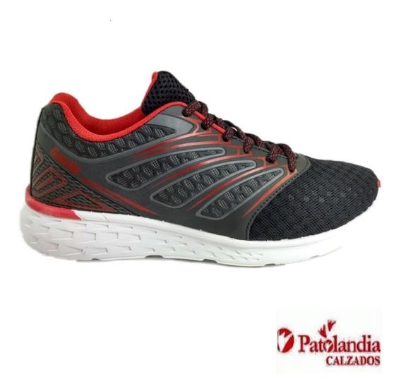 Zapatillas Gaelle Hombre Crossfit Running Negro/rojo N°35/40