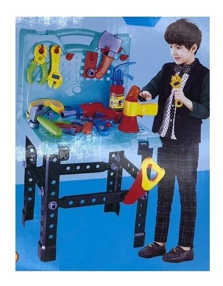 Kit Ferramentas Infantil Oficina Furadeira Acessorios Crianç