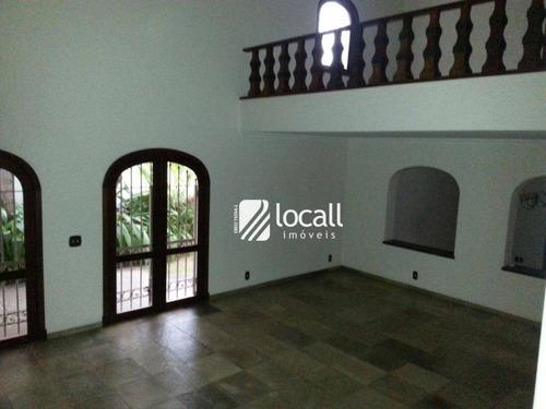 Imagem 1 de 15 de Casa Com 3 Dormitórios Para Alugar, 550 M² Por R$ 15.000,00/mês - Redentora - São José Do Rio Preto/sp - Ca1981