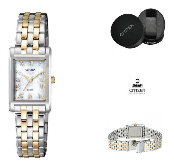 Reloj Citizen 61011 Ej6124-53d Dama Cuadrado Watchsalas