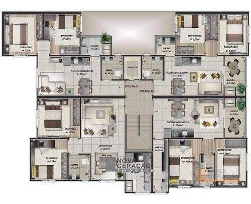 Apartamento Com 2 Dormitórios À Venda, 55 M² Por R$ 179.000,00 - Esplanada - Caxias Do Sul/rs - Ap0090