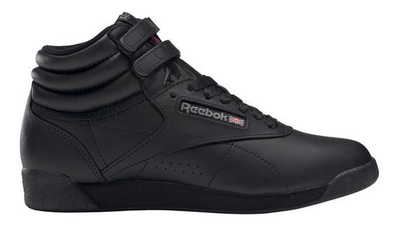 Zapatillas Reebok Freestyle Hi Negra Mujer - Moda Botita