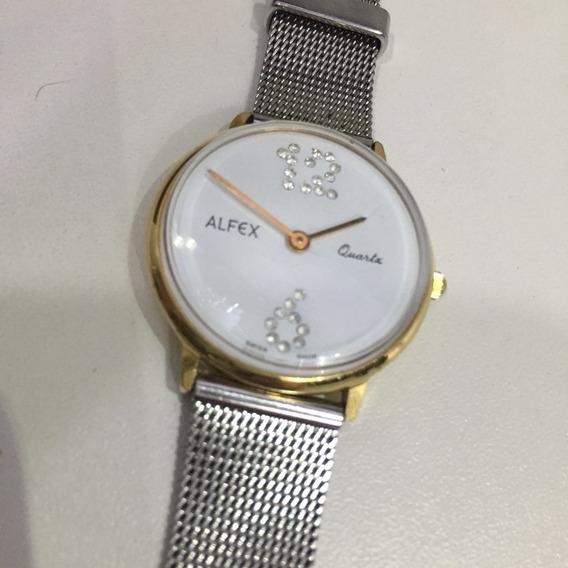 Relógio Feminino Suiço Alfex 31mm Quartz Designer Moderno