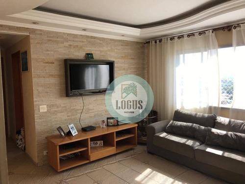 Imagem 1 de 16 de Apartamento Com 3 Dormitórios À Venda, 88 M² Por R$ 435.000,00 - Paulicéia - São Bernardo Do Campo/sp - Ap1647