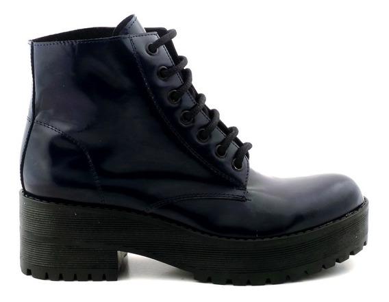 Borcego Mujer Cuero Charol Briganti Bota Zapato Mcbo24641 Ch