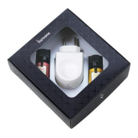 Aromatizador Elétrico Via Aroma Porcelana 10ml Com Essencias