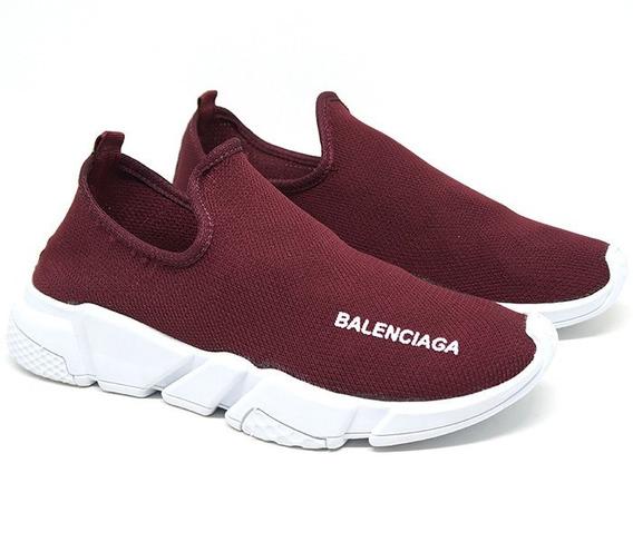 Tênis Unissex Balenciaga Speed Bordo