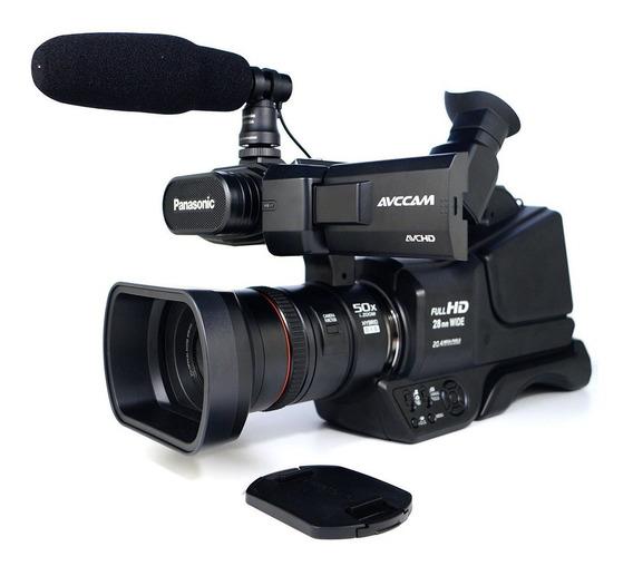 Filmadora Panasonic Ag-ac8 Full Hd + Bolsa Nfe Nova