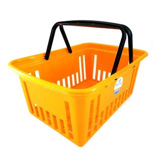 Canasto Autoservicio Plástico Reforzado Supermercado X6 Si