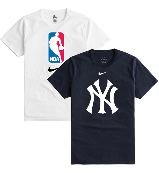 2 Playeras Nike Crest Tee Pack Yankees Y Nba