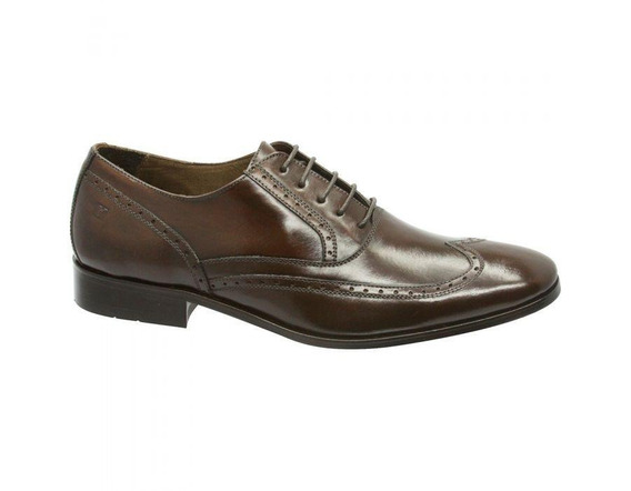 Sapato Social Masculino Oxford Couro 707701 - Frete Grátis