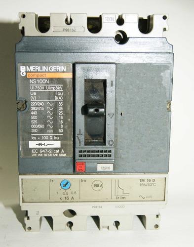Totalizador 12,5-16 Amp Trifasico  Ns100n  Tm 16d 00088