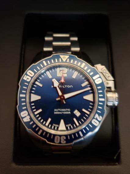 Hamilton Khaki Navy Frogman, Automático, Esfera Azul, Reloj
