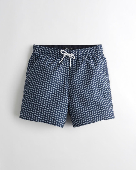 Hollister Guard Fit Swim Trunk 5 Inch Traje Baño Hombre M