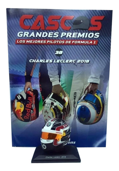 Cascos Grandes Premios F1 Nº 38 Charles Leclerc Alfa Romeo