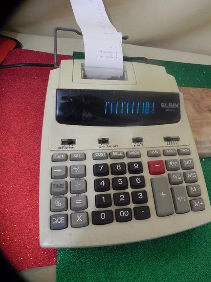 Calculadora Bi-volt Antiga Elgin Mr6124 Impressor Visor