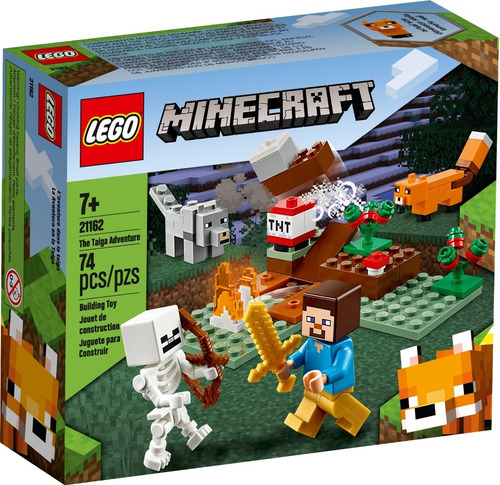 Lego Minecraft The Taiga Adventure 21162, 74 Pzas, Original