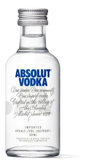 Miniatura Vodka Absolut 50ml Nova Embalagem