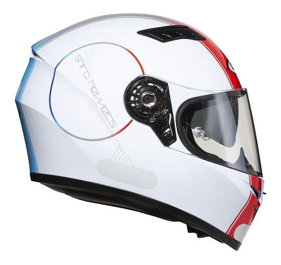 Capacete Shiro Sh600 Robotic (c/viseira Solar) Bc/vm/az Rs1