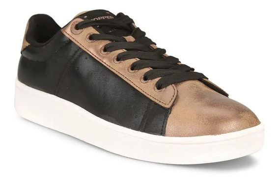Zapatilla Topper Candy Faded Negro Bronce Mujer Rcmdr