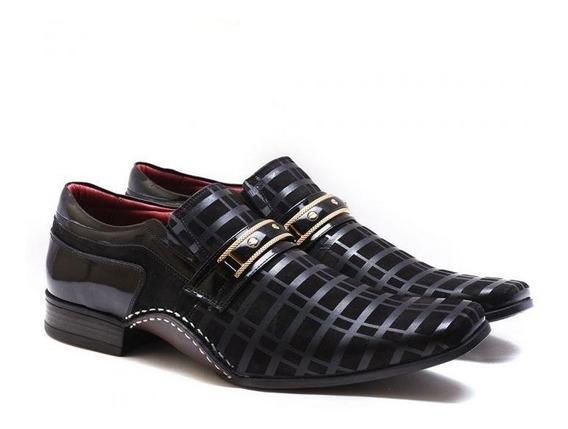 Sapato Social Calvest Masculino Artesanal Couro Bico Fino