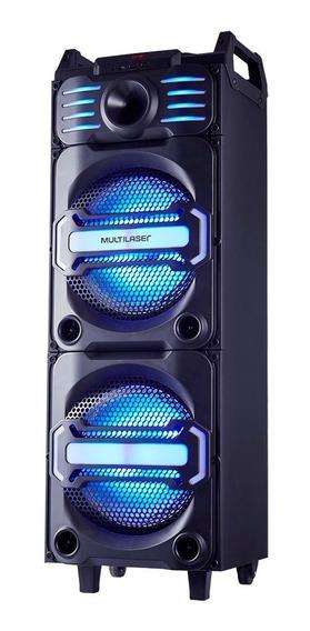 Caixa De Som Amplificada Dj Bluetooth Led Sp285 350rms Mult