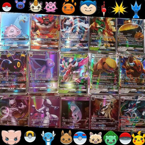 Lote 30 Cartas Pokemon Gx +1 Mega Ex