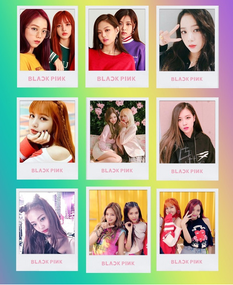 9 Polaroids Kpop Blackpink Bts Exo Got7 Fanmade Twice