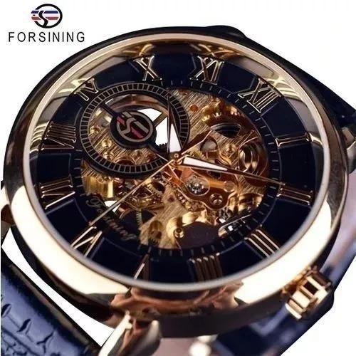 Relógio Masculino Forsining Mecanico Original Luxo Importado