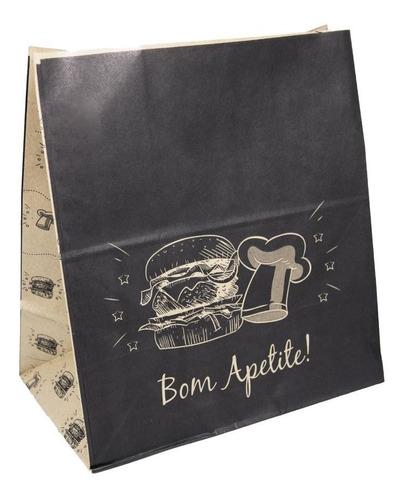 Saco Papel Kraft Bom Apetite Delivery 31x31x18 200 Un