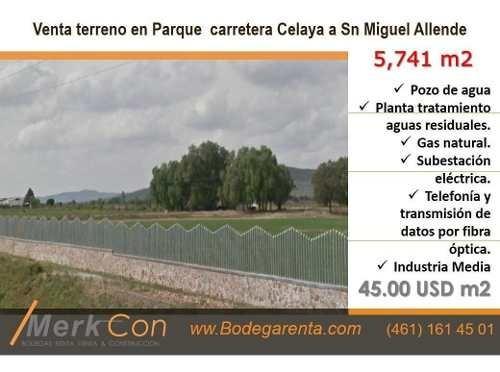 Terreno Venta 5,741 M2 Carret. Celaya A Sn Miguel Allende,gto., Méx.