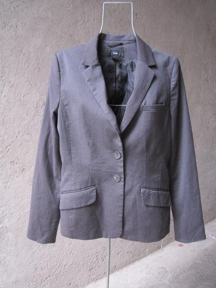 H&m Blazer Saco Gris Oficina Chico Ch De Vestir No Gap