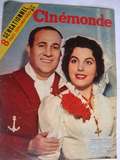 Revista Cinemonde 1129 Mar 1956 Mundo Do Cinema E Astros