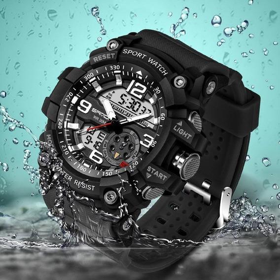 Relógio Sanda 759 Digital 30 M A Prova De Água Luminoso