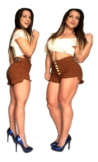 Kit 10 Short Jeans Cintura Alta Hot Pants Atacado Revenda